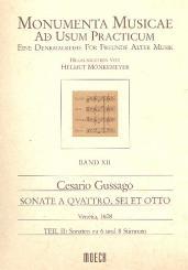 Gussago, Cesario: Sonate à 4, 6 et 8 Band 11 Teil 2 Sonaten zu 6 und 8 Stimmen für, Blockflöten oder andere Instrumente,  Partitur