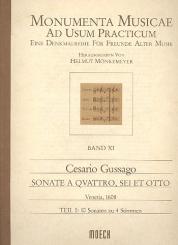 Gussago, Cesario: Sonate a quattro, sei et otto Band 1 10 Sonaten zu 4 Stimmen für, Blockflöten (SATB),  Partitur
