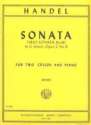 Händel, Georg Friedrich: Sonata g minor op.2,8 for 2 cellos and piano