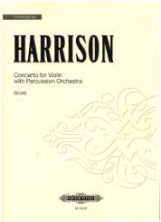 Harrison, Lou: Concerto for violin and percussion orchestra, Score+Parts