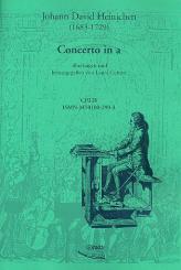 Heinichen, Johann David: Concerto a-moll für Orchester für Orgel (Cembalo), Orgel
