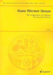 Henze, Hans Werner: Das Urteil der Kalliope für Sprecher und Orchester, Studienpartitur