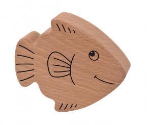 Holzrassel Fisch 10 x 9 x 2,5 cm
