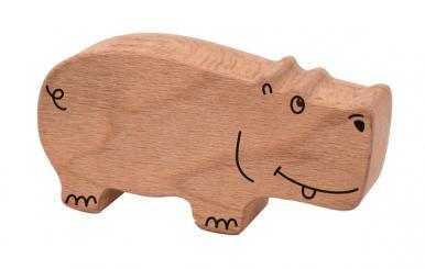 Holzrassel Hippo 10 x 5,5 x 2,5 cm