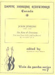 Jenkins, John: 6 Airs and Divisions for 2 bassviols and keyboard