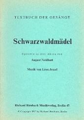 Jessel, Leon: Schwarzwaldmädel Libretto