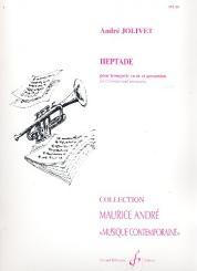 Jolivet, André: Heptade pour trompette et percussion partition et parties