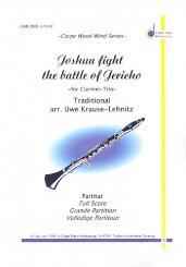 Joshua fight the Battle of Jericho: für 2 Klarinetten und Bassklarinette, Partitur und Stimmen