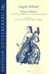 Kühnel, August: Sonate o Partite Band 1 (Sonaten Nr.1-3) für 2 Violen da Gamba und Bc, Partitur und Stimmen (Bc nicht ausgesetzt)