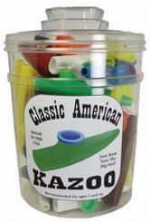 Kazoo aus Kunststoff (Behälter mit 50 Stk, Instrumente einzeln in Folie verpackt)