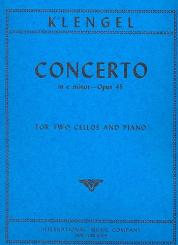 Klengel, Julius (Sohn) *1859: Concerto op.45 e minor for 2 violoncellos and piano