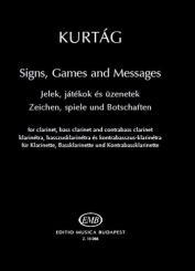 Kurtag, György: Z15066 Zeichen, Spiele und Botschaften für Klarinette/Bassklarinette/Kontrabassklarinette