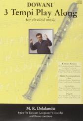 Lalande, Michel Richard de: Suite (+CD) für Sopranblockflöte und Klavier