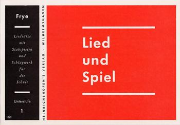 LIED UND SPIEL HEFT 1, UNTERSTUFE FUER STABSPIELE UND SCHLAGWERK, FRYE, KARL, ED