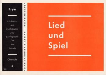 LIED UND SPIEL HEFT 5, MITTELSTU- FE, FUER STABSPIELE UND SCHLAGWERK, FRYE, KARL, ED