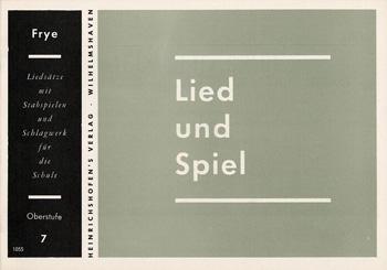 LIED UND SPIEL HEFT 7, OBERSTUFE FUER STABSPIELE UND SCHLAGWERK, FRYE, KARL, ED
