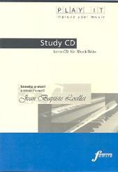 Loeillet, Jean Baptiste (John of London): Sonate a-Moll für Sopranblockflöte und Cembalo, Playalong - CD