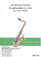 Londonderry Air: für 4 Saxophone (SATBar), Partitur und Stimmen