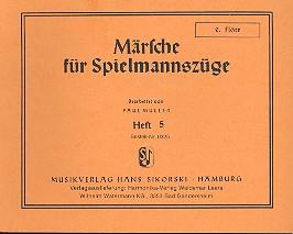 Märsche für Spielmannszüge Band 5 für 2 Flöten und Trommel,  2. Flöte, Müller, Paul, Ed