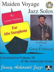 Maiden Voyage Jazz Solos (+CD): for alto saxophone