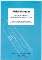 Martini, Jean Paul Egide: Plaisir d'amour für 5 Bläser (Ensemble) (Schlagzeug ad lib), Partitur und Stimmen