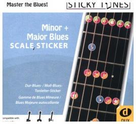 Minor + Major Blues Scale Sticker wiederablösbare Gitarrenaufkleber