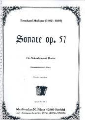 Molique, Wilhelm Bernhard: Sonate op.57 für Akkordeon und Klavier, Klavierpartitur