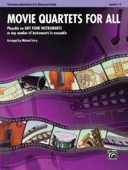 Movie Quartets for all: for 4 instruments (flexible ensemble), trombone/baritone b.c./bassoon/tuba score
