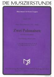 Mozart, Franz Xaver: 2 Polonaisen für Holzbläser-Ensemble Partitur und Stimmen