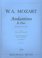 Mozart, Wolfgang Amadeus: Andantino B-Dur KV Anh. Nr.46 für Violinoncello und Klavier