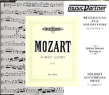 Mozart, Wolfgang Amadeus: Klarinettenquintett A-Dur KV581 CD mit der Begleitung zur Soloklarinette