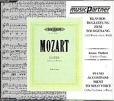 Mozart, Wolfgang Amadeus: Lieder CD mit der Begleitung zur tiefen Solosingstimme