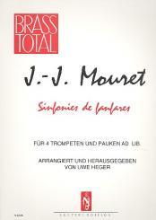 Mozart, Wolfgang Amadeus: Sinfonie de fanfares für 4 Trompeten und Pauken ad lib., Partitur und Stimmen