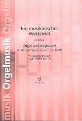 Mozart, Wolfgang Amadeus: Sonata facile C-Dur KV545 für Orgel und Keyboard, Spielpartitur