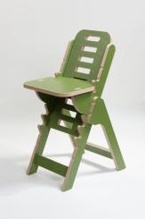 Musikerstuhl Tidlos Birke Multiplex grasgrün Sitzfläche höhenverstellbar von 27 - 64 cm