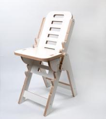 Musikerstuhl Tidlos Birke Multiplex weiß Sitzfläche höhenverstellbar von 27 - 64 cm