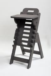 Musikerstuhl Tidlos Valchromat anthrazit Sitzfläche höhenverstellbar von 27 - 64 cm