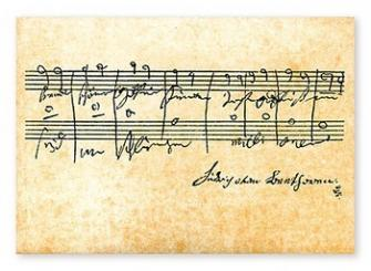 Notenpostkarten Beethoven 10,5x14,8cm, (Verpackungseinheit 10 Stück)
