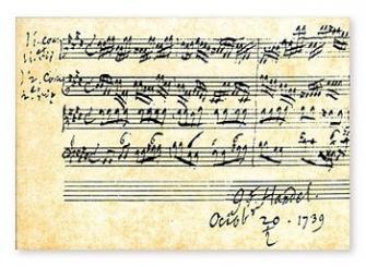 Notenpostkarten Händel 10,5x14,8cm, (Verpackungseinheit 10 Stück)
