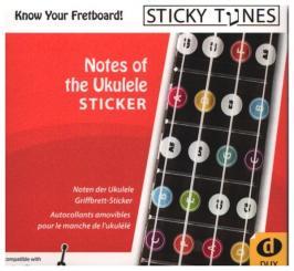 Notes of the Ukulele Sticker widerablösbare Ukulelenaufkleber