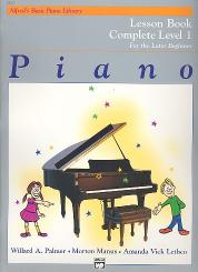 Palmer, Willard A.: Alfred's Basic Piano Library Lesson Book complete Level 1, for the later beginner