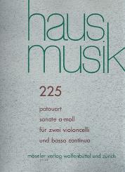 Patouart, ?: Sonate a-Moll für 2 Violoncelli und Bc Stimmen