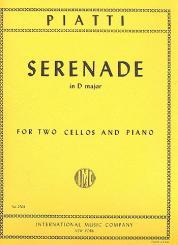 Piatti, Alfredo Carlo: Serenade D major for 2 violoncellos and piano