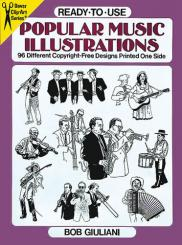 POPULAR MUSIC ILLUSTRATIONS 96 DIFFERENT COPYRIGHT-FREE, DESIGNS PRINTED ONE SIDE