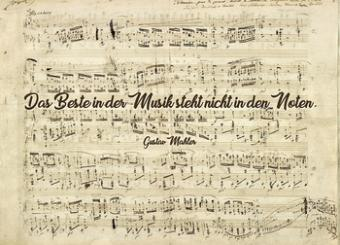 Postkarte Das Beste in der Musik