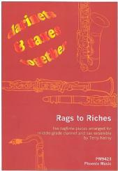 Rags to Riches 5 Stücke für 4  Klarinetten und 4 Saxophone  ( Ensemble ), Partitur und Stimmen