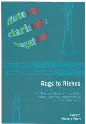 Rags to Riches für Flöten und Klarinetten (4-stimmiges Ensemble), Partitur und Stimmen