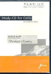 Romberg, Bernhard Heinrich: Sonate Nr.6 op.38,3 für Violoncello und Klavier Playalong-CD
