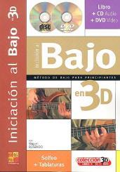 Rosendo, Miguel: Iniciacion al Bajo en 3D (+CD + DVD) (sp)