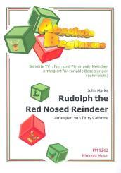 Rudolph the red nosed Reindeer: für variable Besetzung (sehr leicht), Partitur und Stimmen